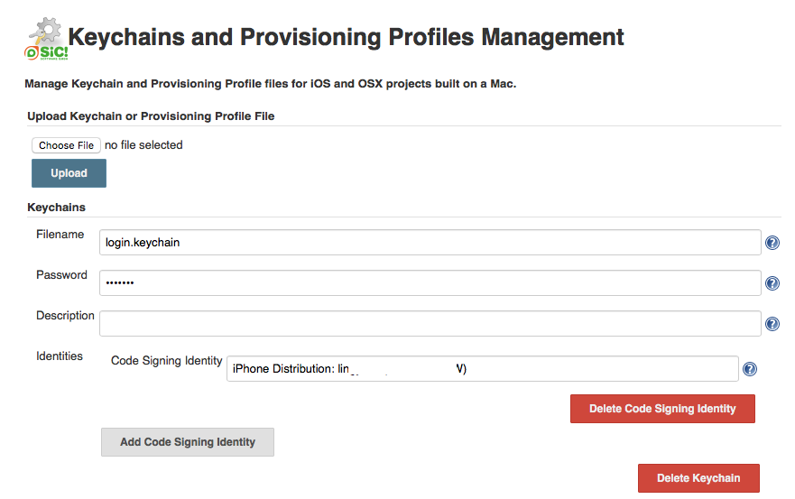Keychains and Provisioning Profiles Management 1